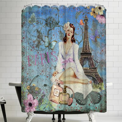 Grab My Art Luxury Fashion Girl Retro In Paris Shower Curtain