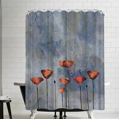 Grab My Art Poppy Flower Meadow Shower Curtain