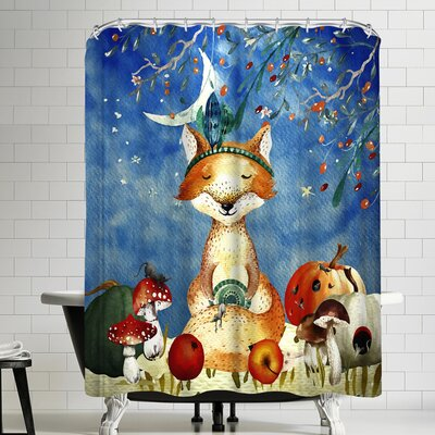 Grab My Art Sleepy Fox In Autumnal Forest Shower Curtain