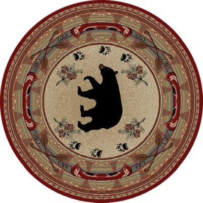Durango Bear Beige Area Rug Rug Size: Round 710