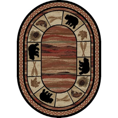 Durango Brown Area Rug Rug Size: Oval 710x910