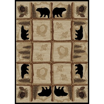 Durango Beige Area Rug Rug Size: Rectangle 5 x 8