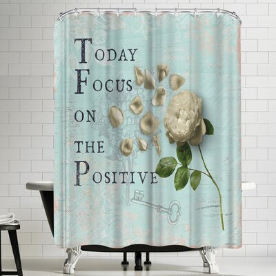 Grab My Art The Positive Rose Shower Curtain