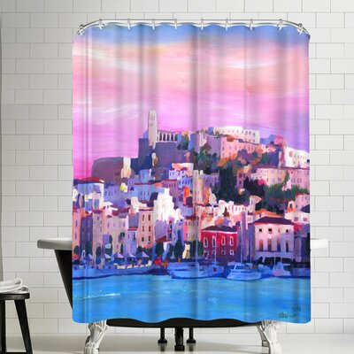 M Bleichner Ibiza Old Town And Harbour Pearl Of The Mediterranean Shower Curtain