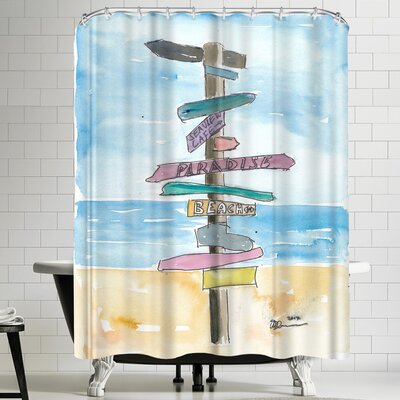 M Bleichner Paradise Beach Shower Curtain