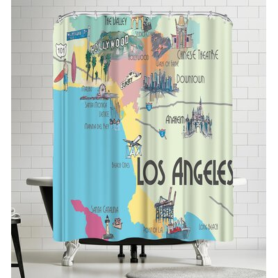 M Bleichner Los Angeles Favorite Shower Curtain