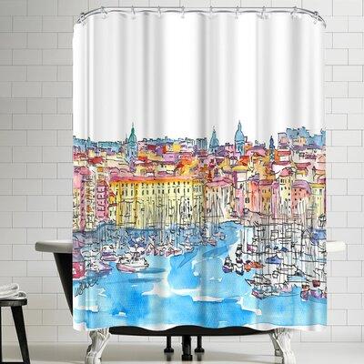 M Bleichner Palermo Sicily Italy Waterfront Skyline Shower Curtain