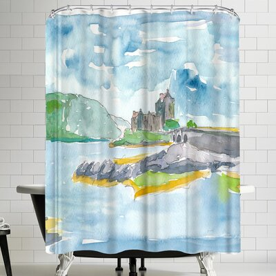 M Bleichner Scotland Highlands Fantasy With Eilean Donan Castle Shower Curtain