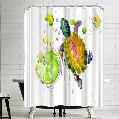 Suren Nersisyan Baby Turtle Lotus Shower Curtain