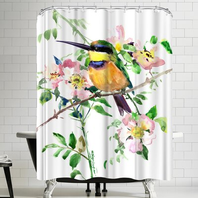 Suren Nersisyan Bee Eater And Rosehop Shower Curtain