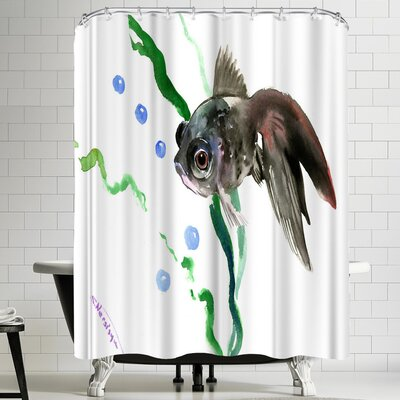 Suren Nersisyan Black Fish Shower Curtain