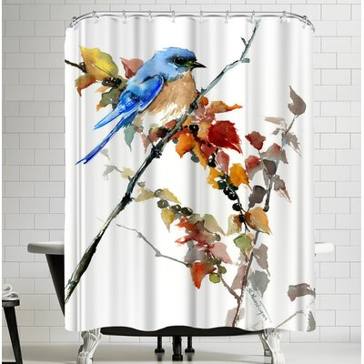Suren Nersisyan Bluebird And Fall Shower Curtain