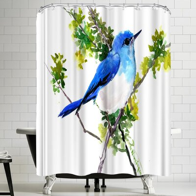 Suren Nersisyan Bluebird Mountains Shower Curtain