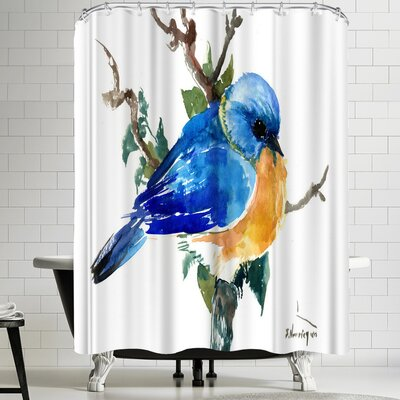 Suren Nersisyan Bluebird Shower Curtain