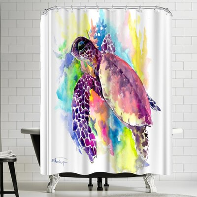 Suren Nersisyan Coral Reef Sea Turtle I Shower Curtain