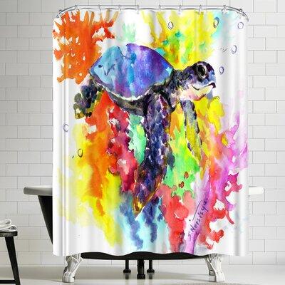Suren Nersisyan Coral Reef Sea Turtle II Shower Curtain