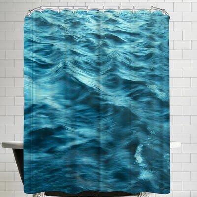 Annie Bailey Shades Of Blue Shower Curtain