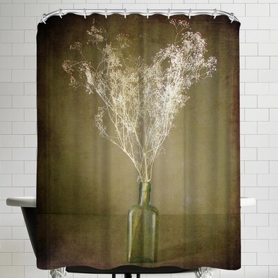 Annie Bailey The Green Bottleart Shower Curtain