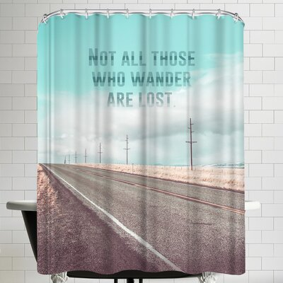 Annie Bailey Those Who Wander Shower Curtain