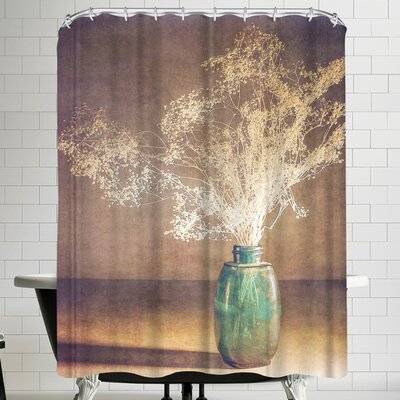Annie Bailey Vintage Blue Shower Curtain