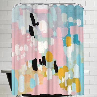 Annie Bailey Wild Hearts Shower Curtain