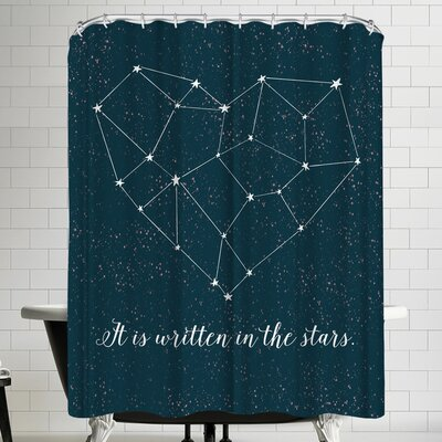 Annie Bailey Written In The Stars Shower Curtain