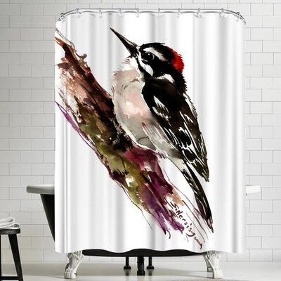 Suren Nersisyan Downy Woodpecker Shower Curtain