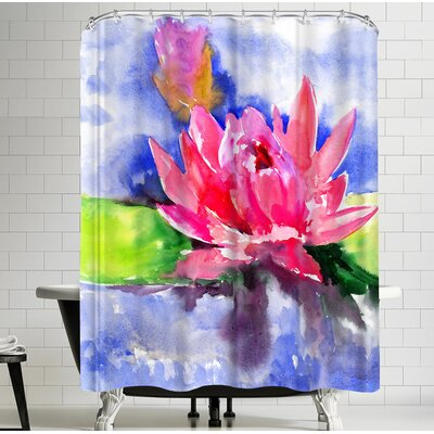 Suren Nersisyan Lotus Flower Shower Curtain