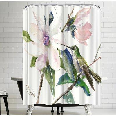 Suren Nersisyan Magnolia And Hummingbird I Shower Curtain