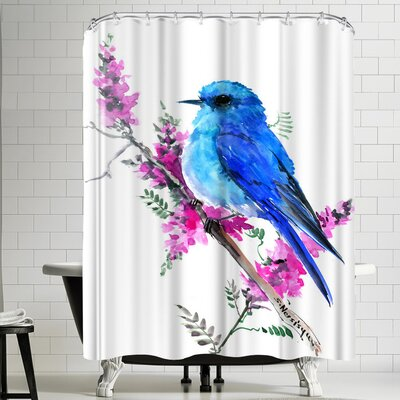 Suren Nersisyan Mountain Bluebird Shower Curtain