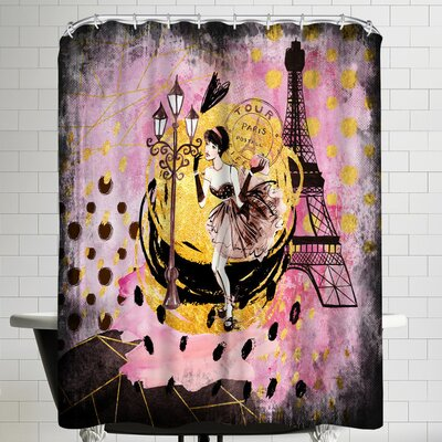 Grab My Art Fashion Girl In Paris Shower Curtain