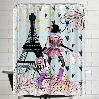 Grab My Art Fashion Girl In Paris Shower Curtain