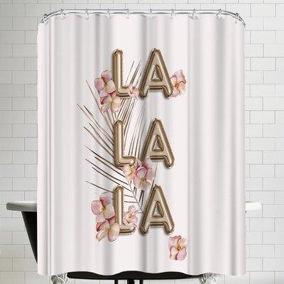 Grab My Art La La La Trendy Girly Chic Shower Curtain