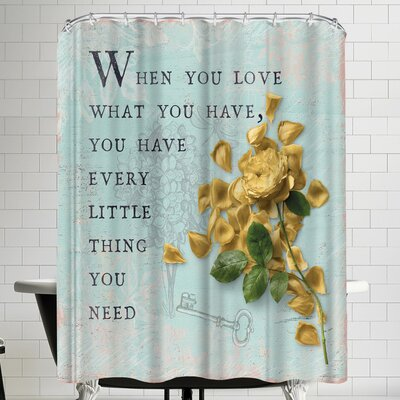 Grab My Art Love Rose Shower Curtain