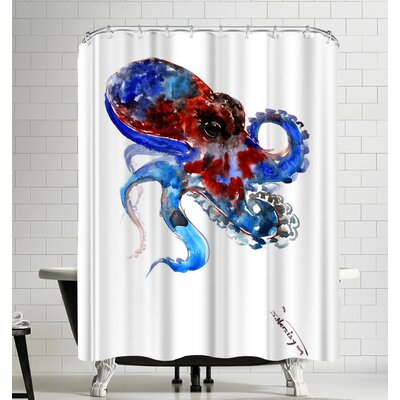 Suren Nersisyan Octopus Shower Curtain