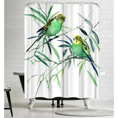Suren Nersisyan Parakeets Budgies Shower Curtain
