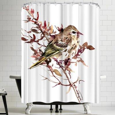 Suren Nersisyan Pine Siskin Shower Curtain