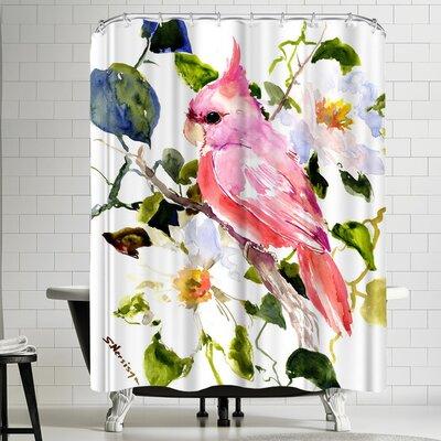 Suren Nersisyan Pink Cockatoo Shower Curtain