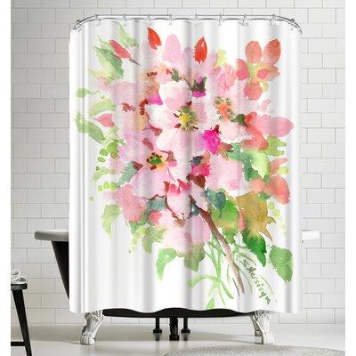 Suren Nersisyan Pink Flowers Shower Curtain