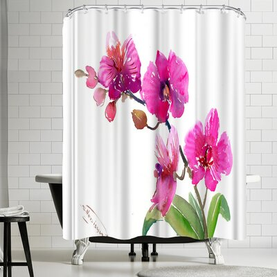 Suren Nersisyan Pink Orchids I Shower Curtain