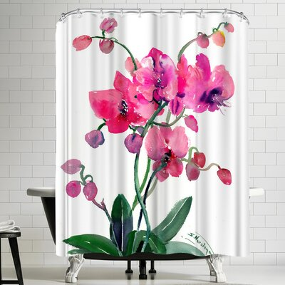 Suren Nersisyan Pink Orchids II Shower Curtain