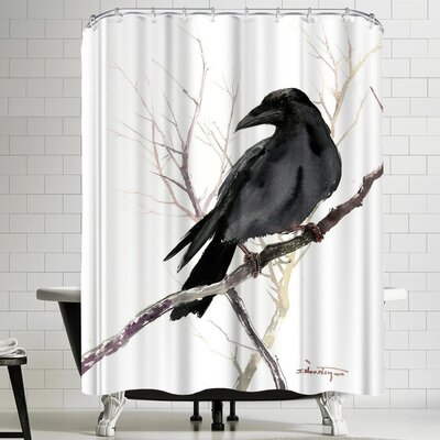 Suren Nersisyan Raven On Tree Shower Curtain