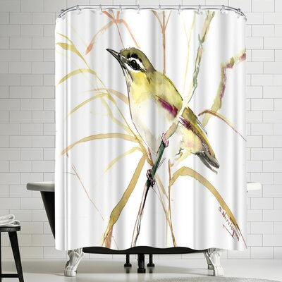 Suren Nersisyan Red Eyed Vireo Shower Curtain