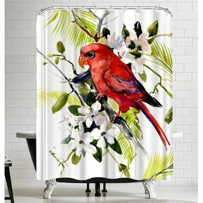 Suren Nersisyan Red Lori Shower Curtain