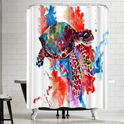 Suren Nersisyan Sea Turtle II Shower Curtain