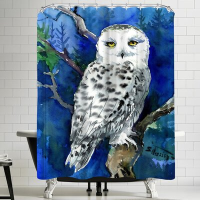 Suren Nersisyan Snowy Owl Shower Curtain