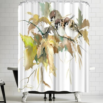 Suren Nersisyan Sparrow And Fall II Shower Curtain