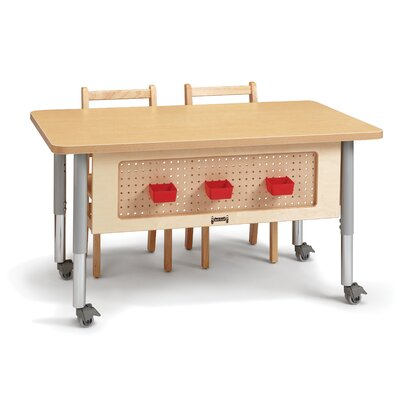 48 Stem Workstation Height Adjustable Training Table with Wheels