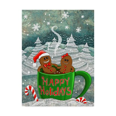 'Hot Cocoa and Gingerbread' Graphic Art Print on Wrapped Canvas ALI29846-C1419GG