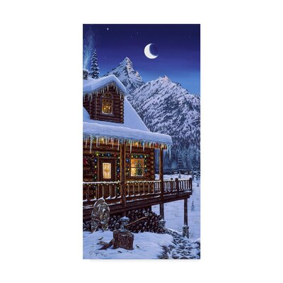 'Mountain Home Christmas' Graphic Art Print on Wrapped Canvas ALI30305-C1019GG
